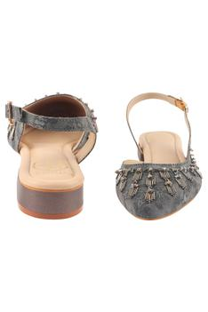 Irene Pointed Toe Back Strap Mules