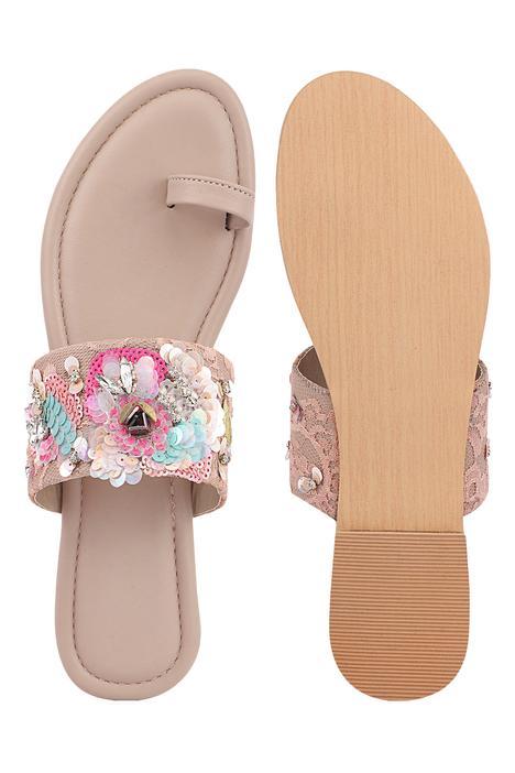 Lauren Floral Embroidered Sandals