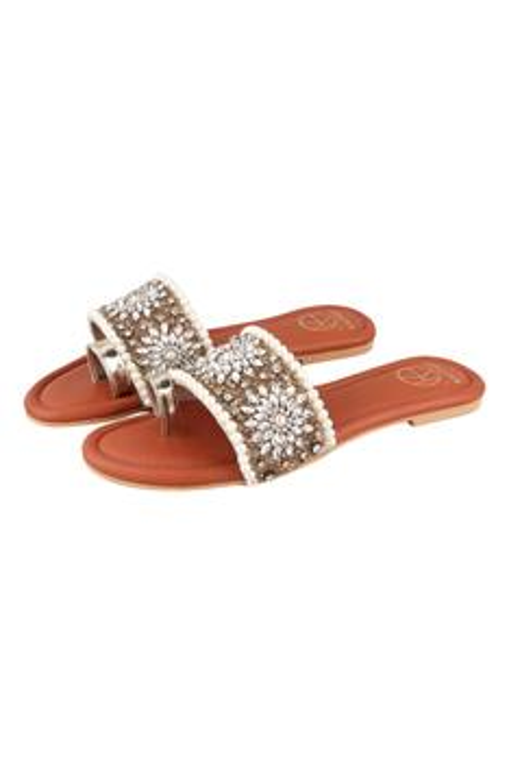 Marilyn Floral Embellished Sandals