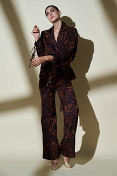 Printed Pant Set with Belt