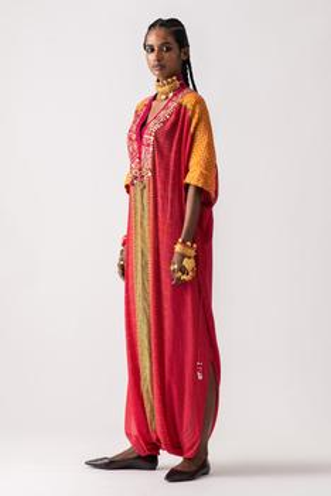 Vayu Printed Draped Kaftan Jumpsuit