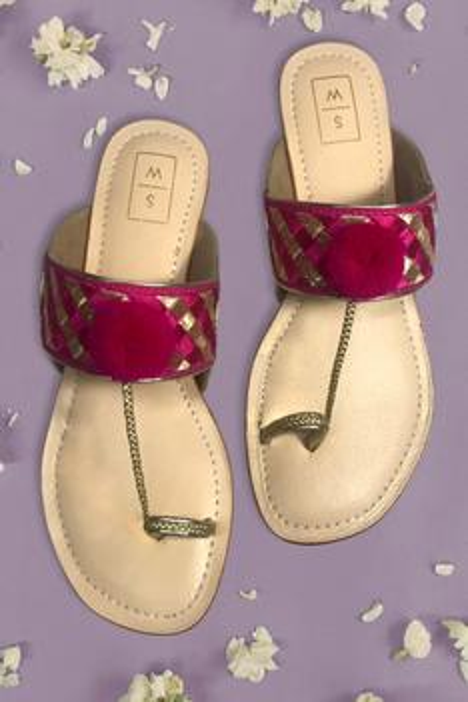 Pom Pom Kolhapuri Sandals