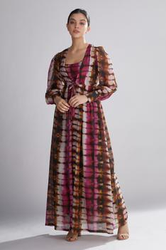 Chanderi Silk Long Jacket