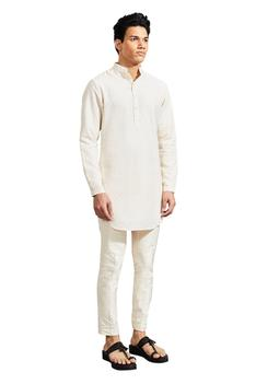 Silk Embroidered Short Kurta