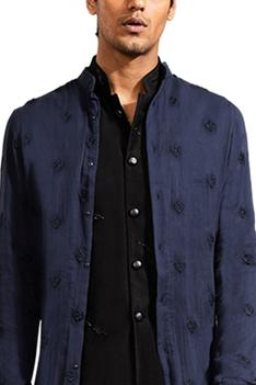 Linen Embroidered Long Kurta