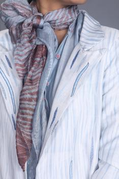 Chanderi Silk Shibori Jacket