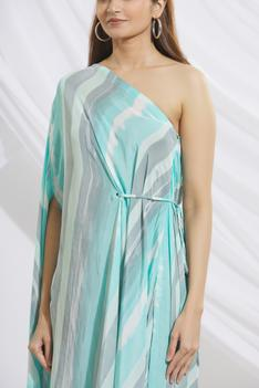 Hand Painted One Shoulder Dress
