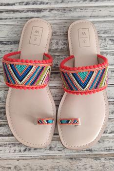 Lolo Beaded Strap Sandals