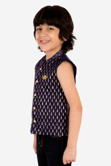 Chanderi Printed Jacket