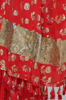 Foil Print Saree with Chanderi Unstitched Blouse Fabric