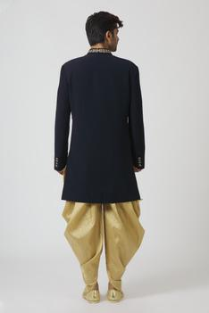 Embroidered Sherwani with Dhoti Pant