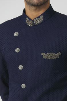 Embroidered Bandhgala with Pant