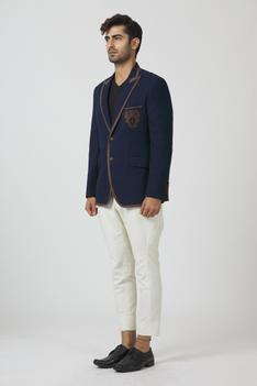 Embroidered Blazer with Pant