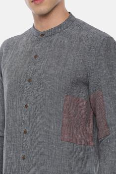 Linen Checkered Shirt
