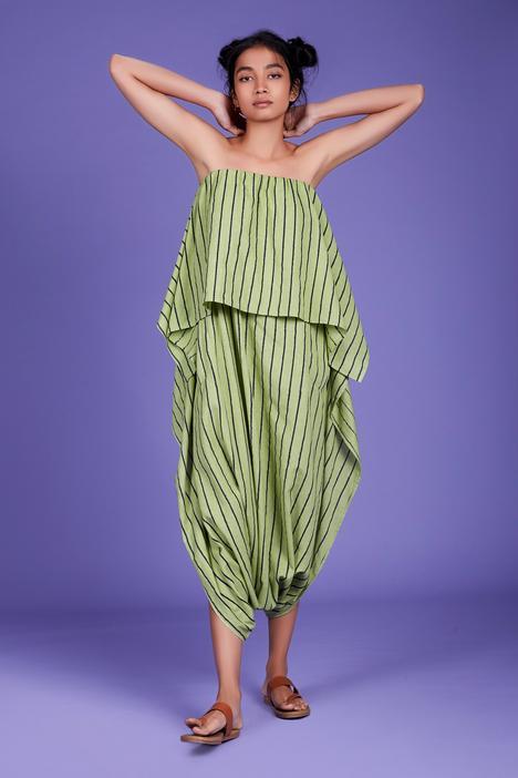 Cotton Striped Popover Jumpsuit
