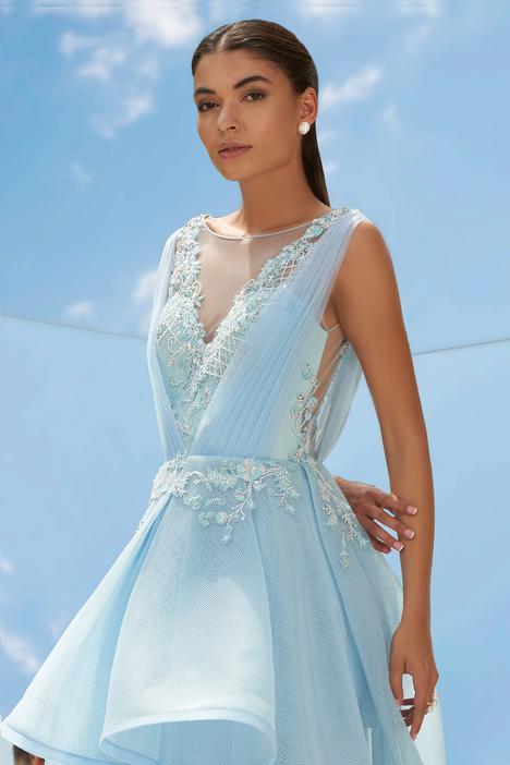 Asymmetric Flared Ruffle Gown