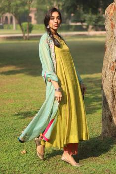 Handwoven Chanderi Kurta Set