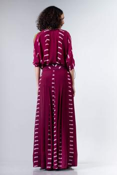 Printed Knotted Top & Pant Set