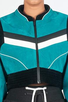 Colorblock Cropped Jacket