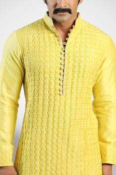 Chanderi Textured Kurta