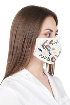 Embroidered Face Mask ( Single Pc )