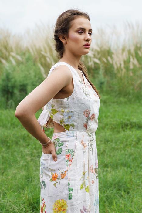 Floral Printed Jumpsuit