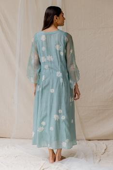 Hand Painted Flared Dress