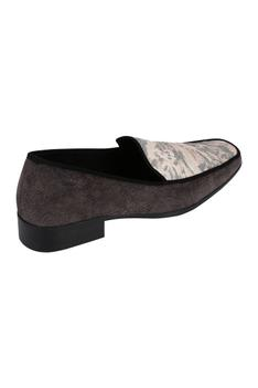Jacquard Suede Loafers