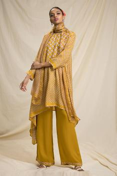 Silk Bandhani Print Tunic Set