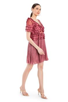 Satin Frill Dress