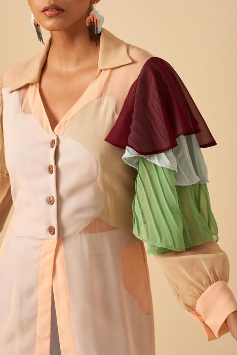 Applique Shirt Dress
