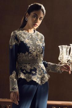 Embroidered Top & Sharara Set