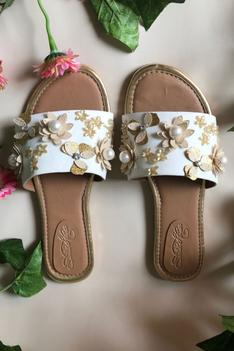 Floral Embellished Sliders