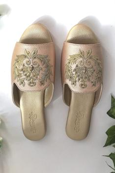 Embroidered Open Toe Sandals