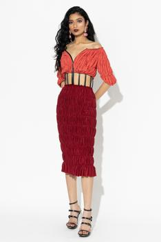 Ruched Cutout Dress