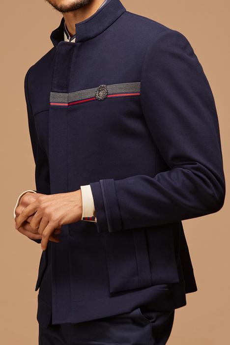 Front Zipper Bandhgala