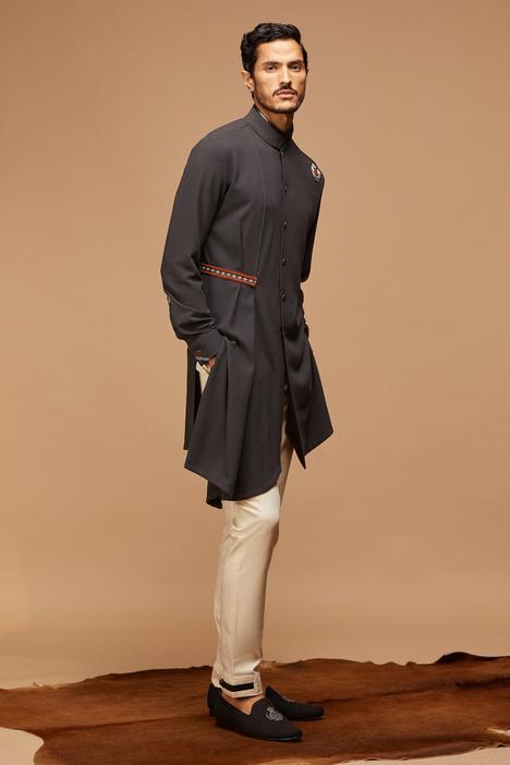 Asymmetric Draped Kurta