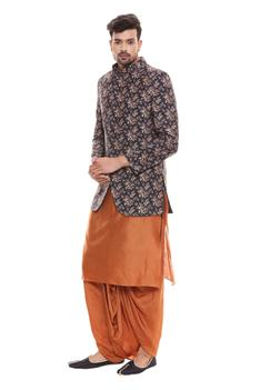 Printed Bundi & Kurta Set
