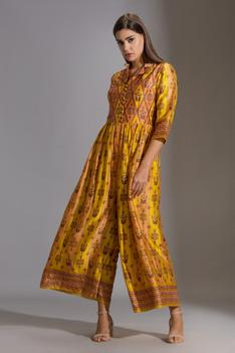 Silk Printed Jumpsuit