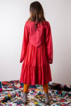Hand Dyed Tiered Dress