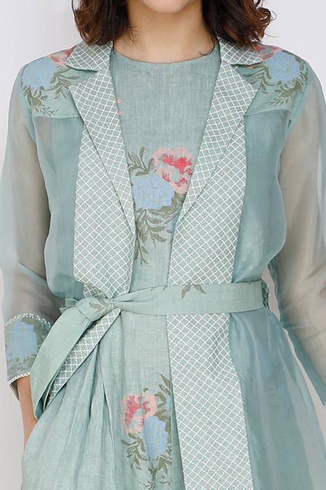 Linen Jumpsuit & Jacket Set