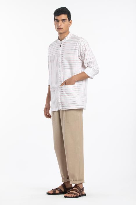Striped Zipper Shirt