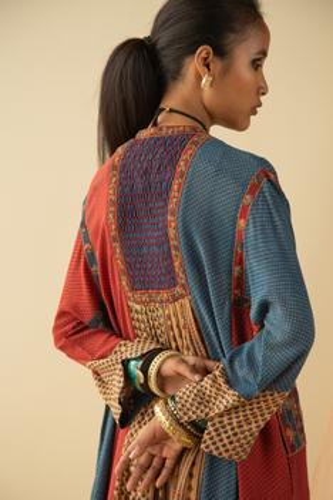 Ajrakh Print Panelled Tunic
