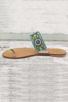 Bead Embroidered Sandals