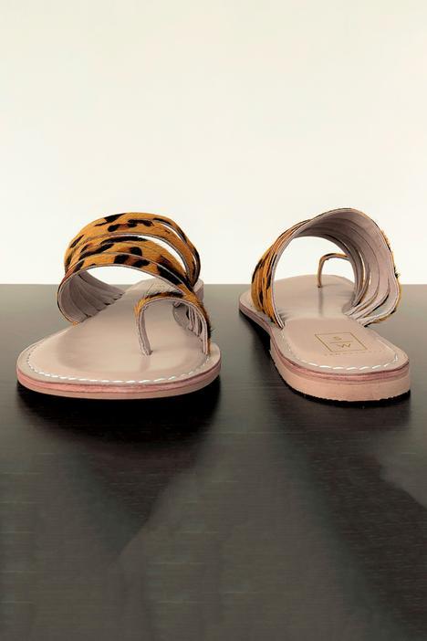 Leopard Print Multi Strap Sandals