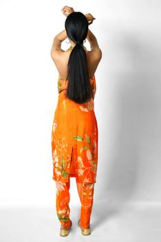 Silk Draped Kurta & Pant Set