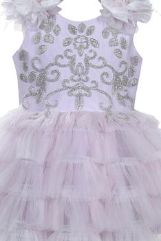Embroidered Ruffle Dress