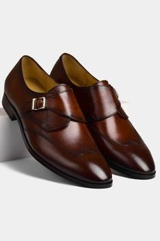 Hand Painted Single Monk Shoes