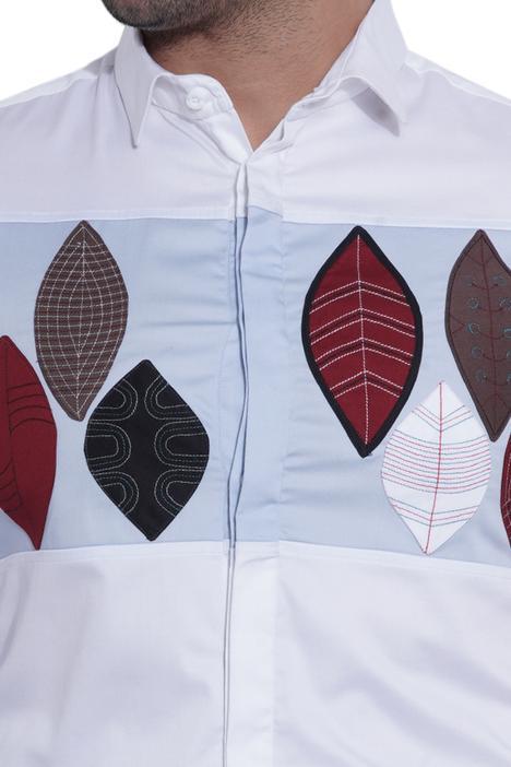 Slim-Fit Applique Shirt