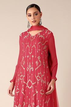 Embroidered Kurta Gharara Set